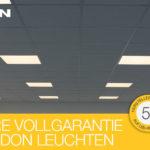 Vollgarantie: ganze 3 Jahre auf LEDON LED-Leuchten