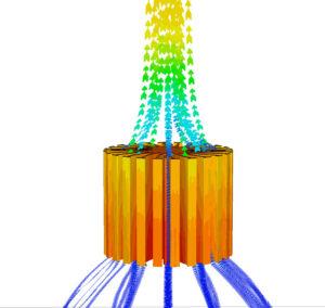 Konvektion eines Kühlkörpers