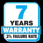 7 Jahre Garantie 3 % Ausfallrate