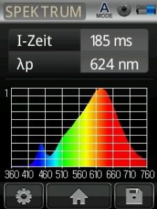 Mk350N UPRtek LEDON Spektralanalyse