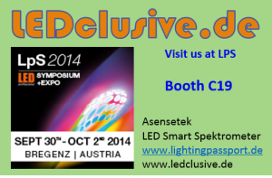 Banner LPS2014 with boothnr. for led spectrometer