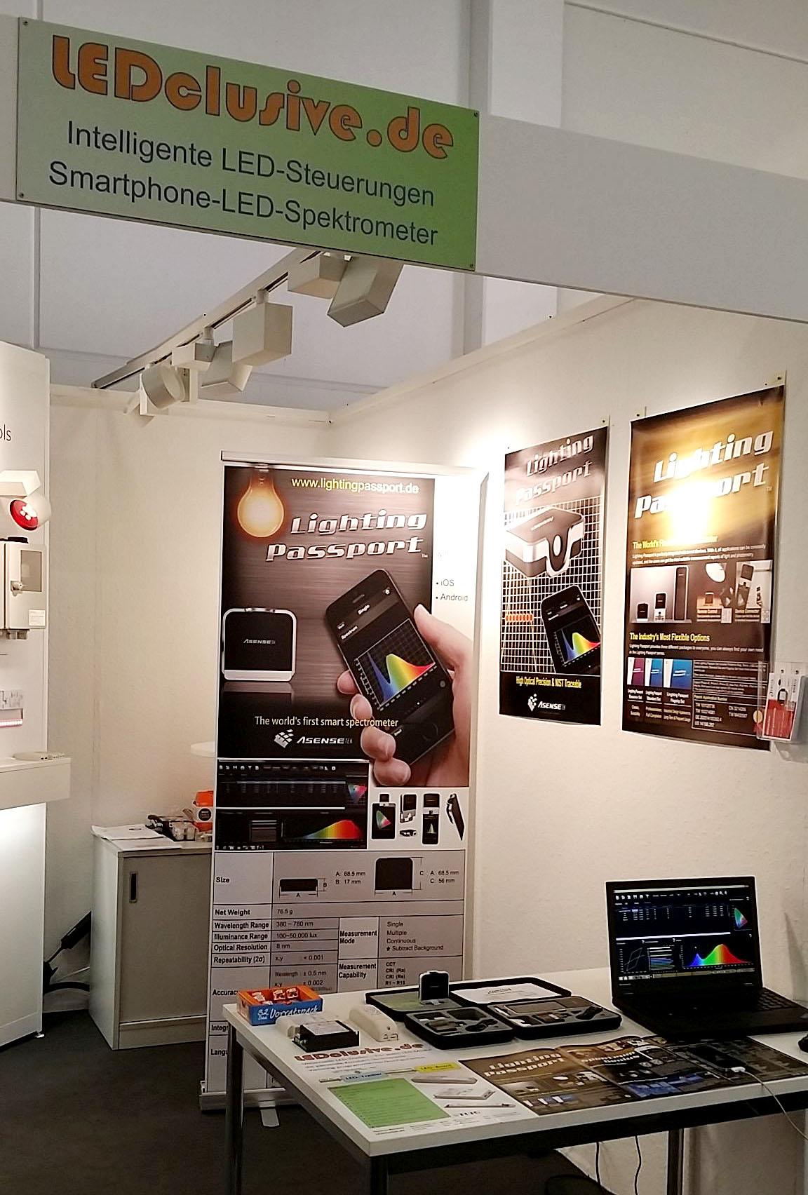 messestand lightingpassport Smart Spektrometer