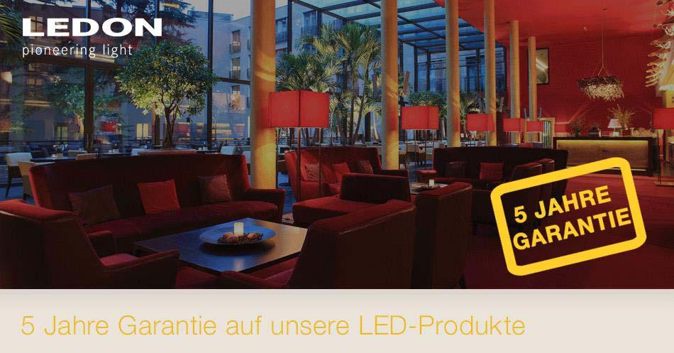 LED Produkte von LEDON mit 5 Jahre Garantie