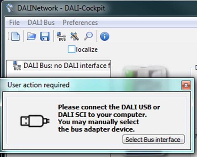 DALI Interface Verbindung