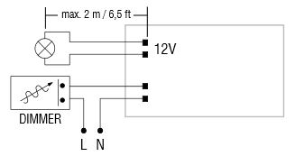 Dimmable LED power supply for connection to triac dimmers