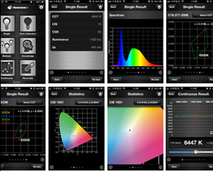 Lichtspektrometer LightingPassport Flagship Set screenshots