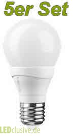 LED-Lampe 7W LEDON E27 7W A60 (5er-Set)
