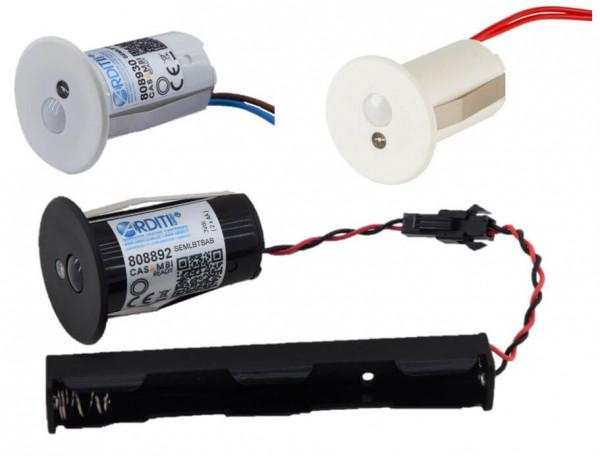 Casambi motion/light sensor in variations with constant voltage 12-24V, 220-240V and 3V battery