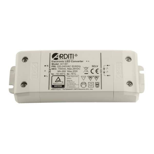 Independent LED power supply 20W with constant current 350mA / 700mA