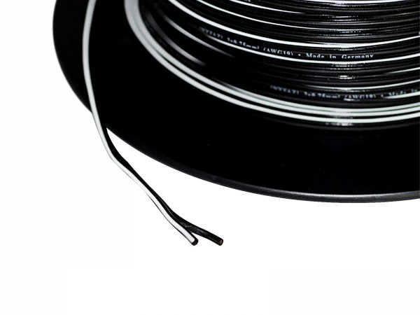 1m 2x 0,75mm² Doppellitze / Leitung schwarz