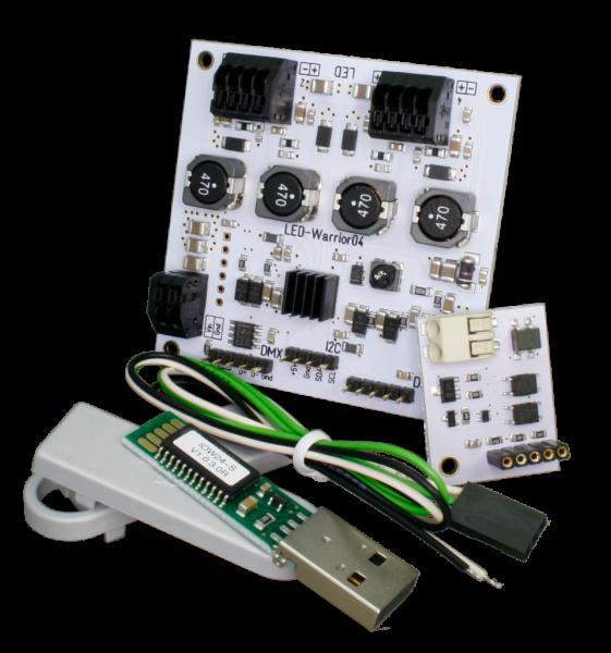 LED Treiber LW04 Starterkit IEC 62386 DMX und I2C