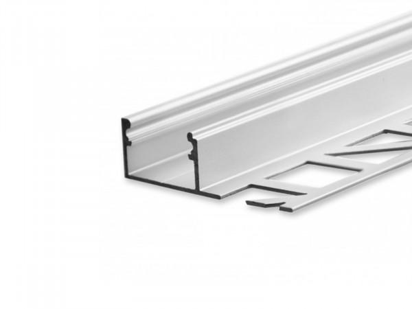 LED Alu Fliesenprofil AL-PU23 Abschluss silber