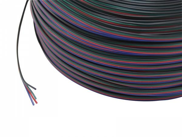 1m 4x 0,5mm² LED RGB Leitung 4-adrig