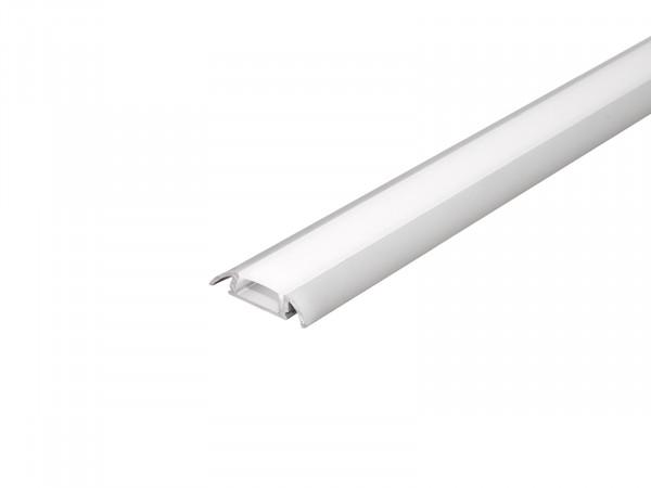 LED Alu Flachprofil silber mit Abdeckung 2m AL-PU8