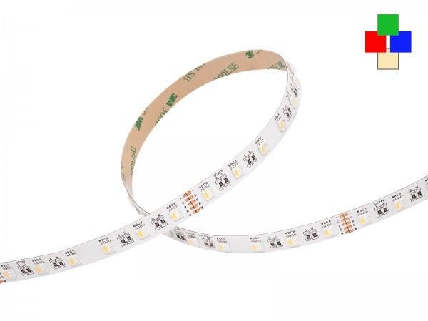 Flexible LED Streifen 24V RGB-WW 4-Kanal 60 LEDs/m