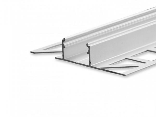 LED aluminum tile profile AL-PU20 light gap silver
