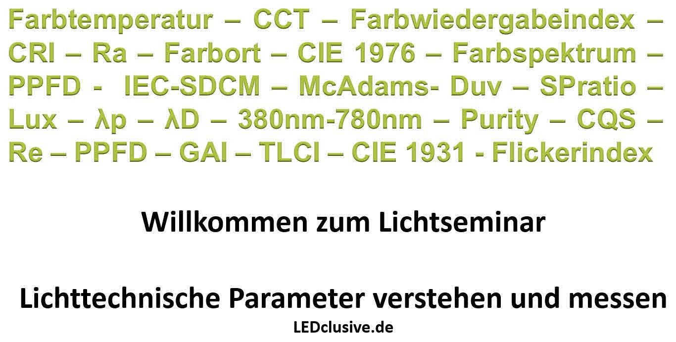 Lichtparameter
